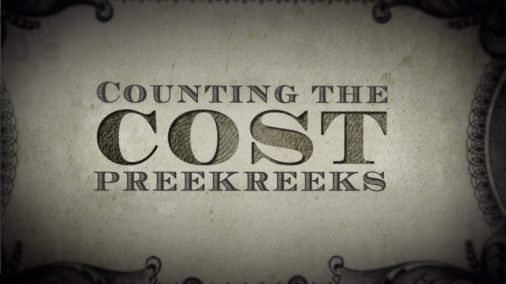 Counting the Cost - Trailer