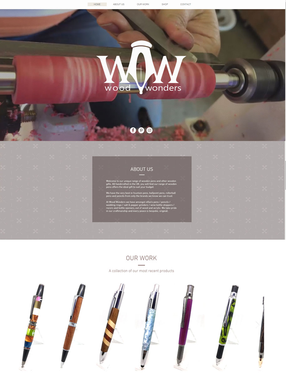 Wood Wonders Website